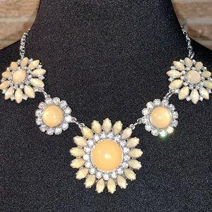 NEVER WORN - Peach Floral Statement Necklace